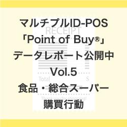 マルチプルID-POS「Point of Buy®」データレポート活用例を公開中!「2018年以降の食品・総合スーパー購買行動」